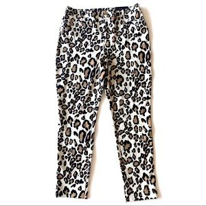 NWT Chicos So Slimming Ankle Leopard Pants 1 M 8